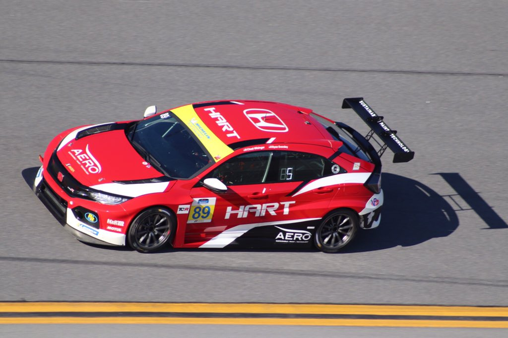 The Honda of America Racing Team was one of three to debut the Honda Civic Type R TCR this weekend in testing for the 2019 Michelin Pilot Challenge series.  The season opens January 26 at Daytona International Speedway.