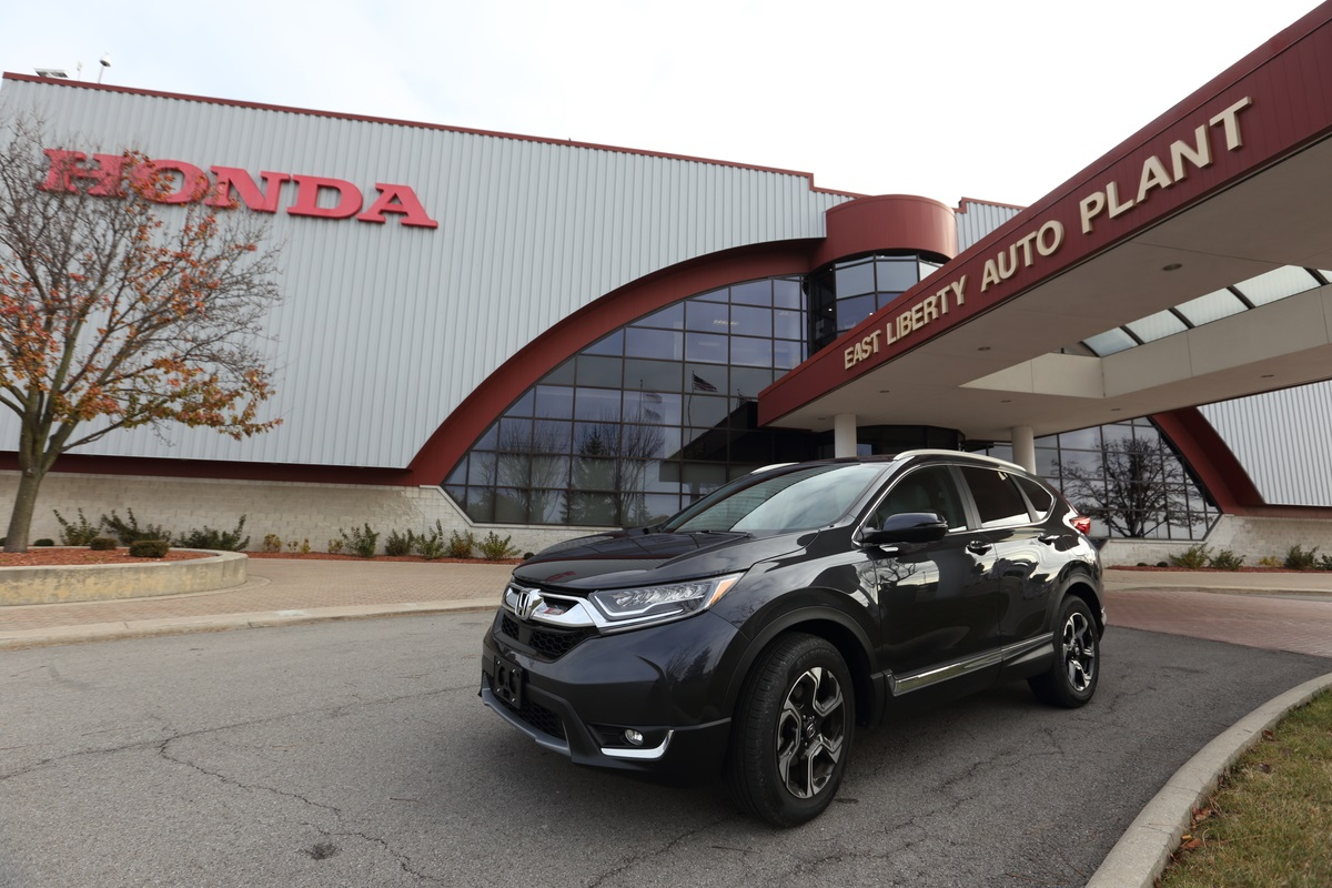 The East Liberty Auto Plant led the global production of the all-new 2017 CR-V.