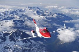 The HondaJet is making its first appearance in Europe as part of